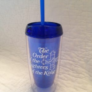 20oz Blue Tumblers with Lid and Straw