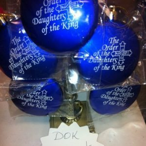 DOK Blue Christmas Ornament