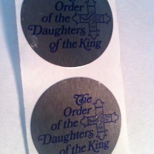 Silver Foil Round Stickers